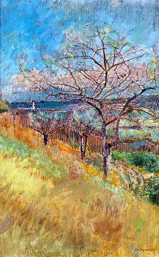 Ladislav Mednyánszky, vallei met bomen in bloei - 1900 van Atelier Liesjes