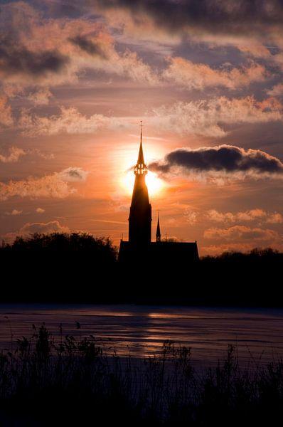 Winter sunset van Thomas Fransen