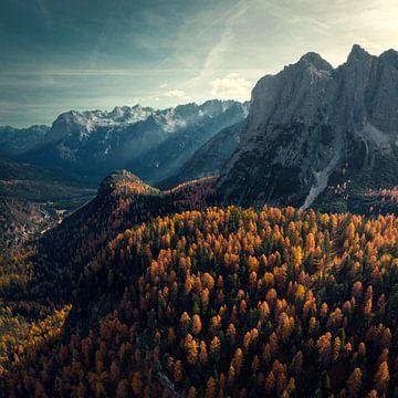 Herfst in de Dolomieten van Niels Tichelaar