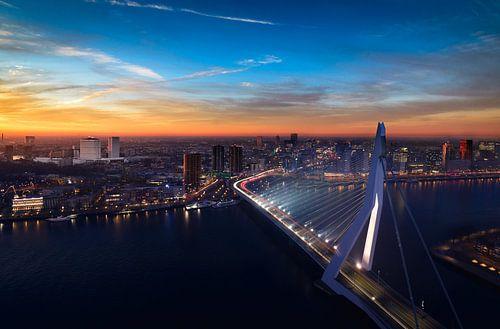 Rotterdam Zonsondergang van Ronne Vinkx