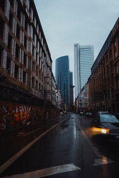 Regen in Frankfurt van Stefan Spoelstra