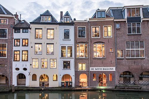 Huizen langs de Oudegracht van De Utrechtse Internet Courant (DUIC)