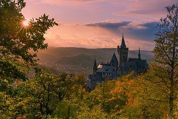 Château de Wernigerodeode, Harz, Saxe-Anhalt, Allemagne sur Henk Meijer Photography