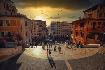 Spaanse trappen, Rome van Hans van Oort