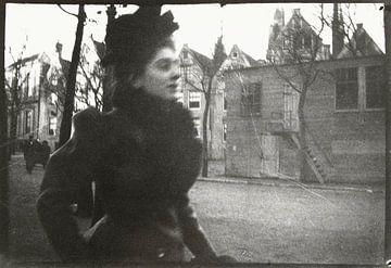 Portret van een vrouw op het Spui, George Hendrik Breitner