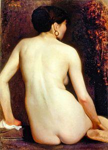 Rückansicht der nackten Frau, Rodolfo Amoedo, 1881