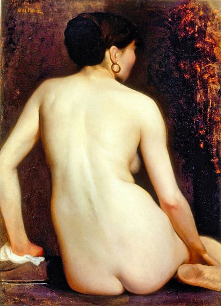 Rückansicht der nackten Frau, Rodolfo Amoedo, 1881 von Atelier Liesjes
