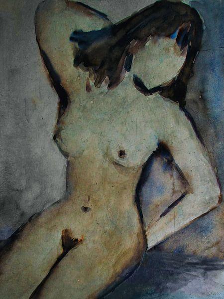 Weiblicher Akt - sitzend von Christine Nöhmeier