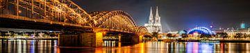 Köln Panorama bei Nacht von Günter Albers