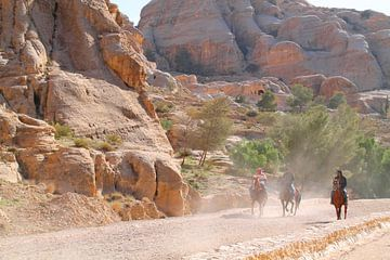 Jordanie, pad naar Petra van