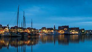 Volendam haven - sfeeropname in de avond
