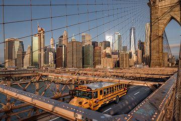 Brooklyn Bridge  mit Süd Manhattan sur