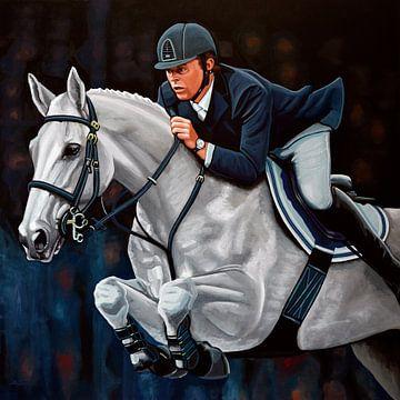 Jeroen Dubbeldam op De Sjiem schilderij sur Paul Meijering