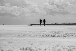 Wandelen op het strand van Meint Brookman