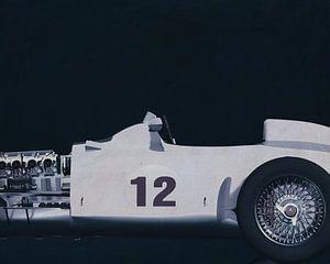 Mercedes W196 Silberpfeil 1954 S/W