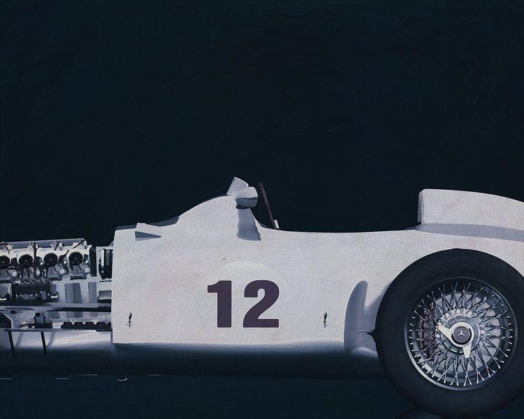 Mercedes W196 Zilveren Pijl 1954 B&W van Jan Keteleer