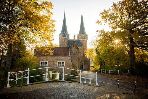 Eastern gate Delft at Sunrise van