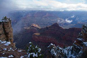Grand Canyon in de Sneeuw