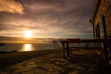 Sonnenuntergang in der Bretagne. von Jeroen Mikkers
