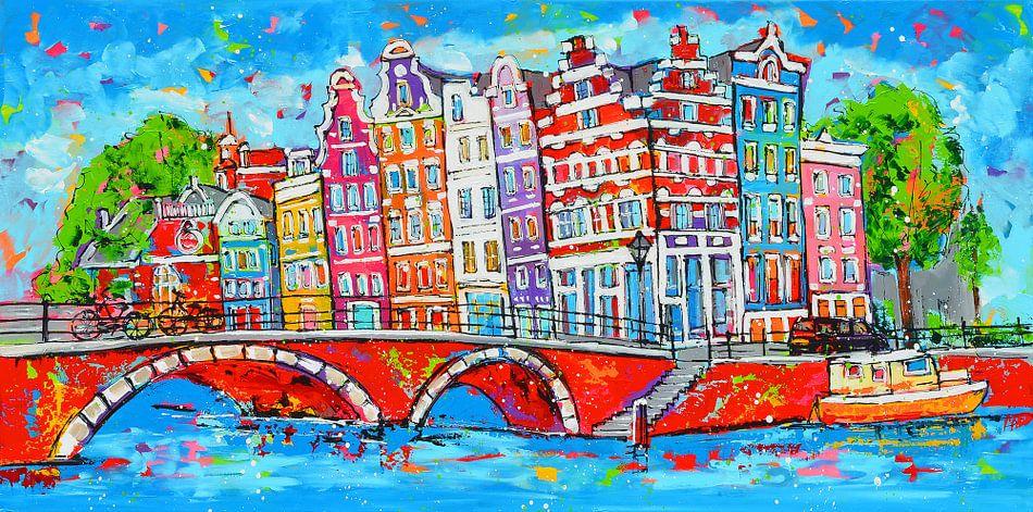 Amsterdam van Vrolijk Schilderij