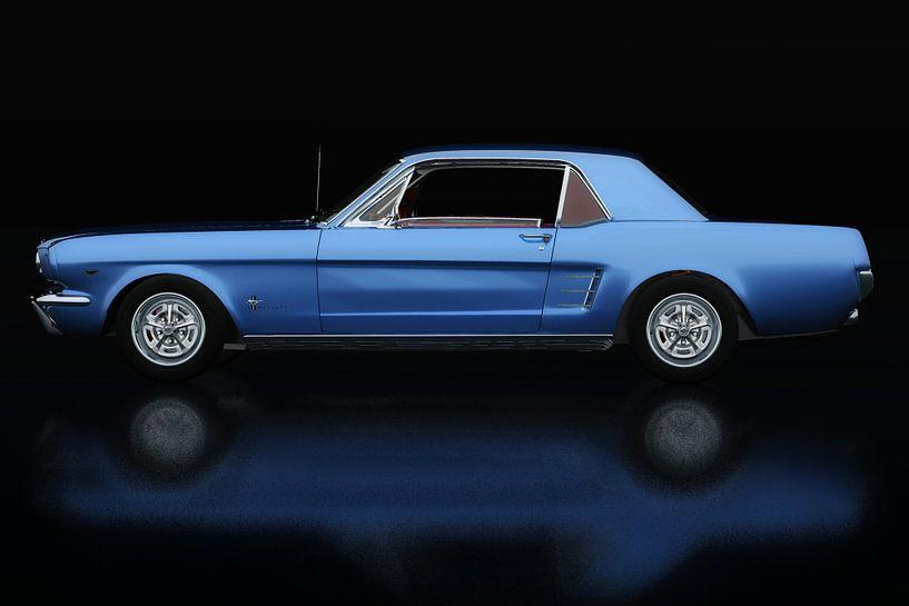 Ford Mustang GT Zijaanzicht van Jan Keteleer