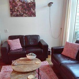 Klantfoto: Bloesem in roze tinten van Rob Hendriks, op canvas