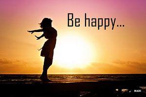 """Inspiration """"Be Happy"""" van"""