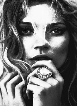 """KATE MOSS """"Der Ring"""" von Kathleen Artist Fine Art"""