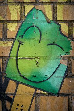 Detail van een graffiti van Heiko Kueverling