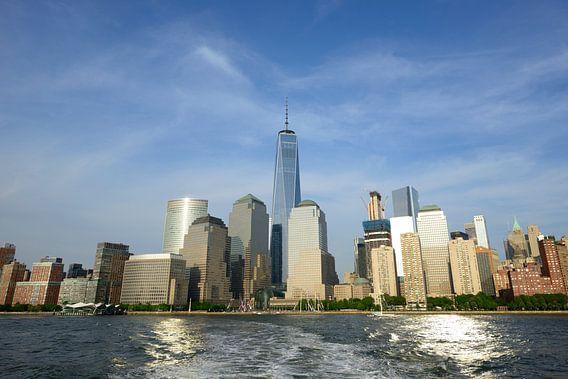 Lower Manhattan New York Skyline  van Merijn van der Vliet