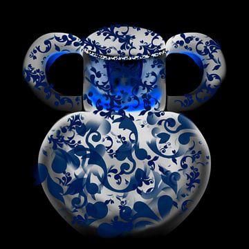Vaas blauw van Raina Versluis