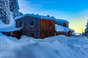 Zonsopkomst in de Zwitsere Alpen van