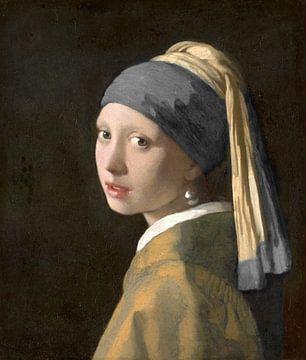 Das Mädchen mit der Perle und dem dunkelgrauen Turban