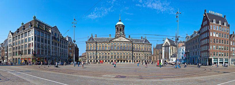 Panorama Dam Amsterdam van Anton de Zeeuw