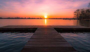 Zonsondergang Kralingse Plas Rotterdam von AdV Photography