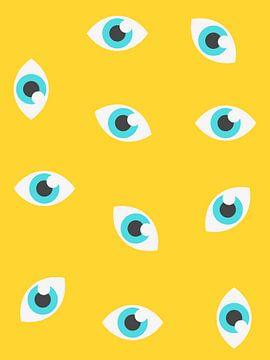 Druck von Augenmustern von MDRN HOME