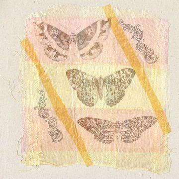 papillons sur tissu sur Hella Kuipers