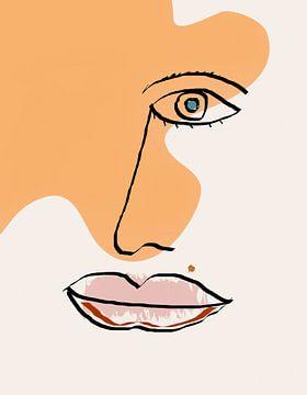 Gezicht op abstracte kunst van Marion Tenbergen