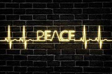 Peacezeichen EKG Herzschlag Frieden sur Felix Brönnimann