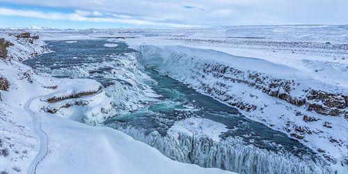 Gullfoss waterfall - IJsland van Tux Photography