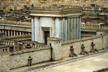 Model van de tweede tempel, Jeruzalem, Israël. van Michael Semenov