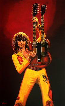 Jimmy Page Schilderij van Paul Meijering