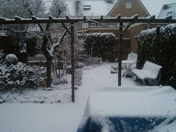De sneeuw in onze eigen achtertuin  van Wilbert Van Veldhuizen