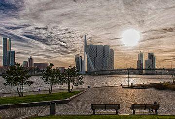 Erasmusbrug Rotterdam in HDR van Brian Morgan