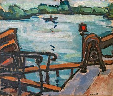 Blick auf die Seine, den Steg oder die Landschaft, Albert Marquet, 1942