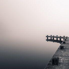 Nebeliger Morgen am Steg von Toon van den Einde