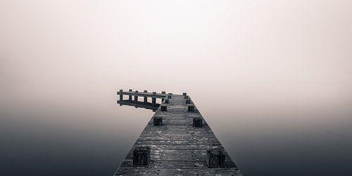 Mistige morgen bij de steiger van Toon van den Einde