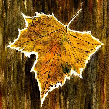 Herfst - Maple Leaf van Christine Nöhmeier