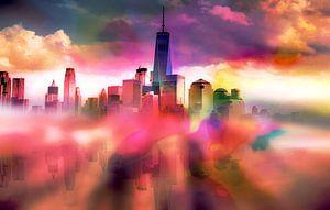 Reflectie van Manhattan New York City II