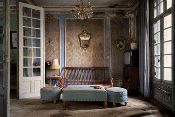 blauwe woonkamer van Kristof Ven
